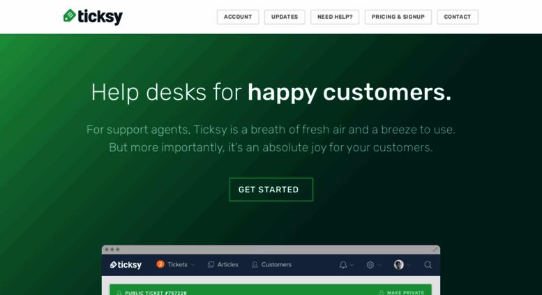 Access ticksy com  Ticksy - Help desks for Envato authors