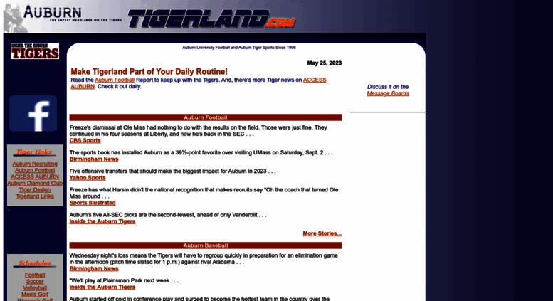 Access Tigerland Com Tigerland The Latest Auburn Tigers