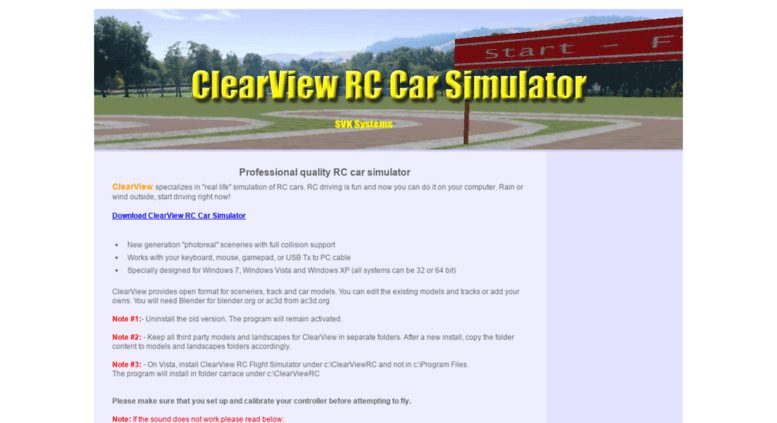 Access time2rc com  ClearView RC Flight Simulator - Home