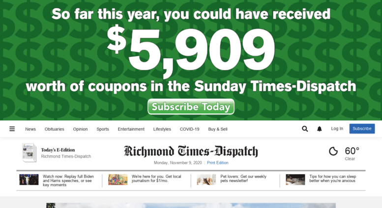 Access timesdispatch com  Richmond Times-Dispatch: Richmond