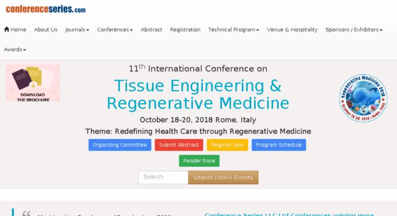Access tissuescience-regenerativemedicine conferenceseries net