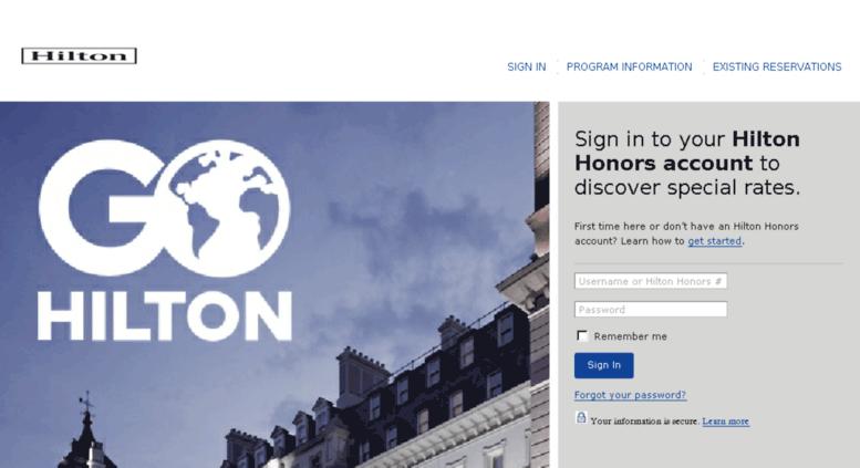 Access Tm.hilton.com. Hilton.com