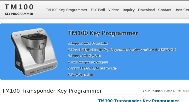 Access tm100-key-programmer com  Original TM100 Transponder