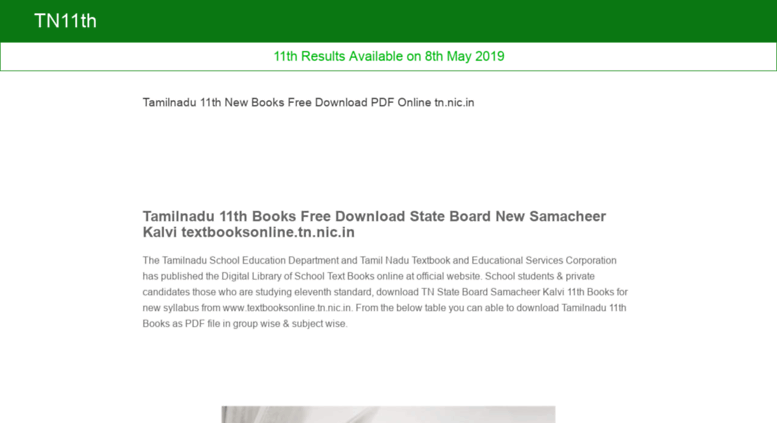Access tn11th in  Tamilnadu 11th New Books Free Download PDF Online