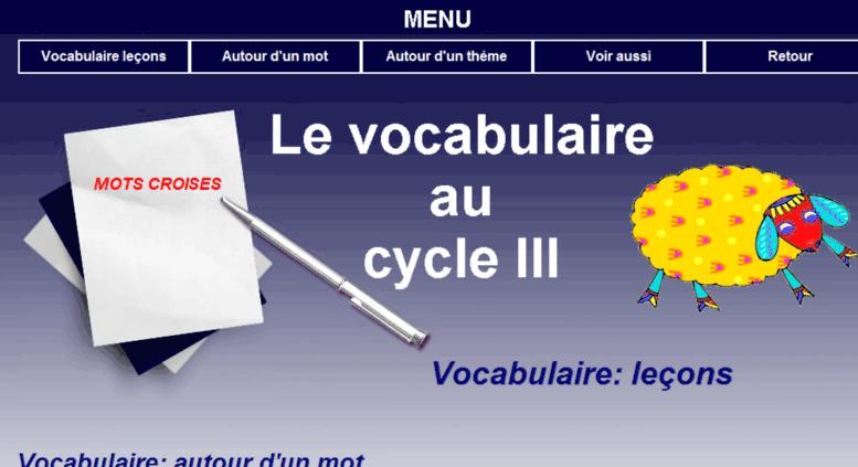 Access Tnvocabulaire Tableau Noir Net Vocabulaire Au Cycle Iii