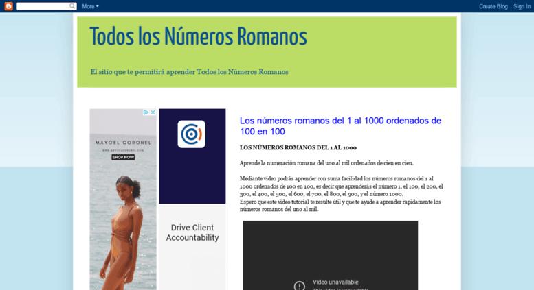 Access Todoslosnumerosromanosblogspotcom Todos Los Números Romanos