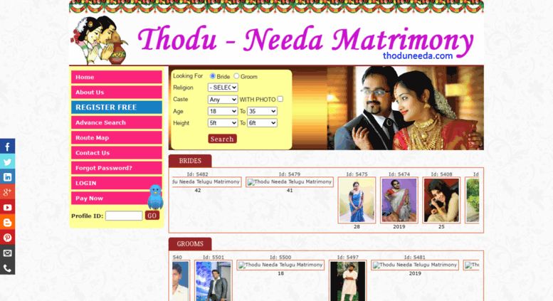 Access todu-needa com  Telugu Matrimony | Marriage Bureau