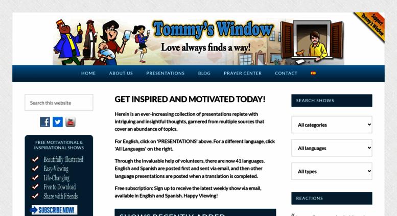 01ff5cd69cff Access tommyswindow.com. Tommy s Window – Love always finds a way