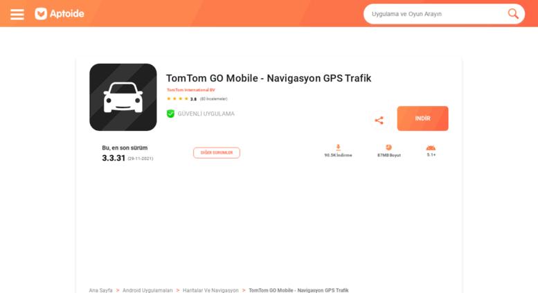 Access tomtom-international-bv-go tr aptoide com  TomTom GO Mobile