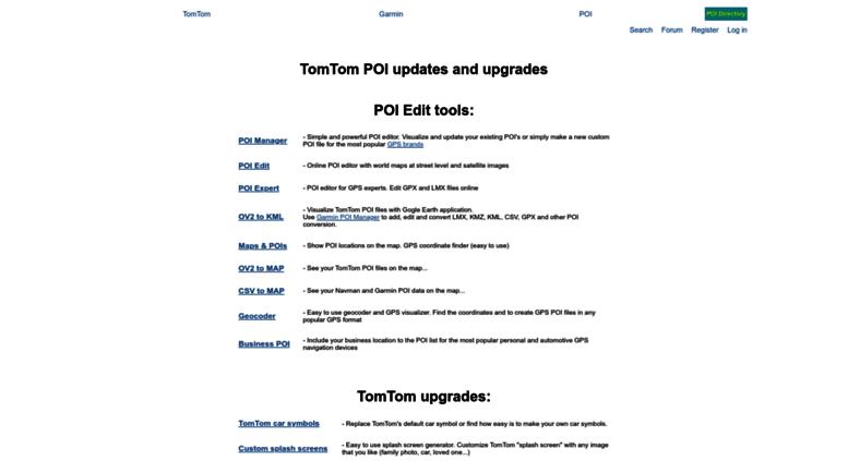 Access tomtom gps-data-team com  TomTom POI Files