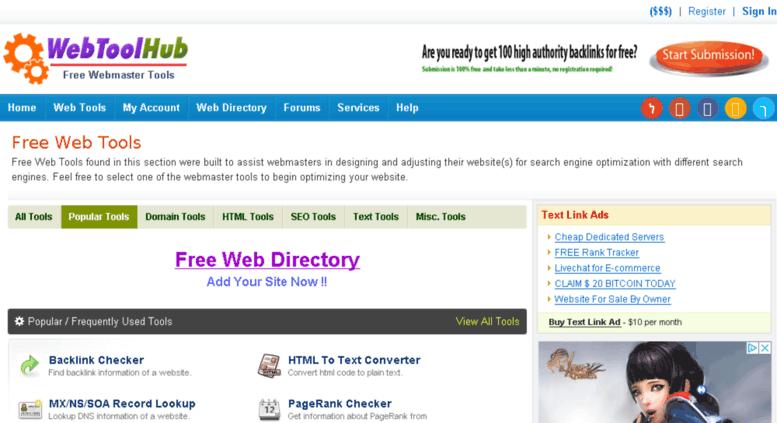 Access tools khrido com  Free Web Tools - SEO Tools - WebToolHub