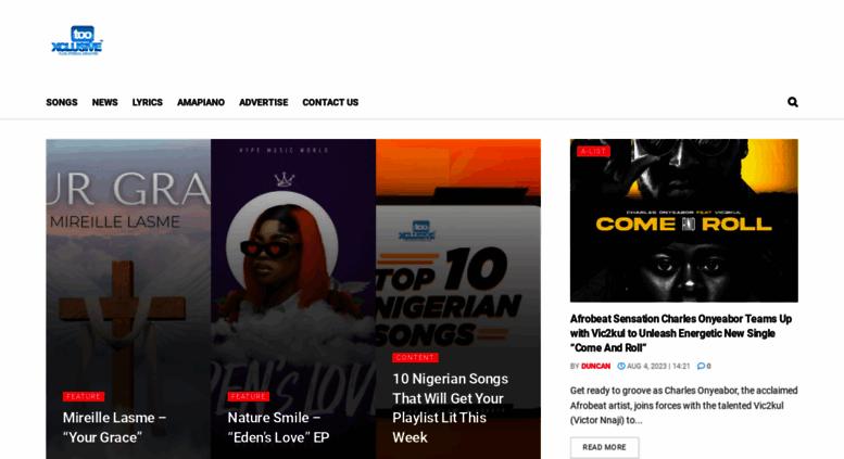 Access tooxclusive com  TooXclusive | Nigeria's #1 Music Website