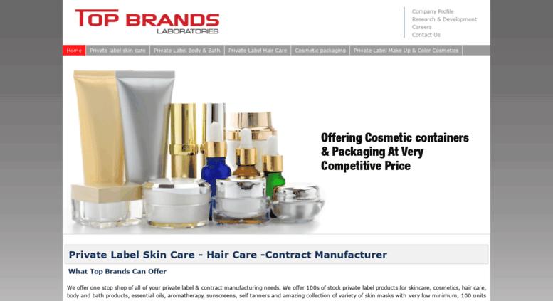 Access topbrandscosmetics com  Top Brands Laboratories