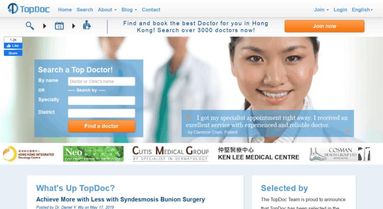 Access topdoc hk  Hong Kong doctors & dentists list | Search