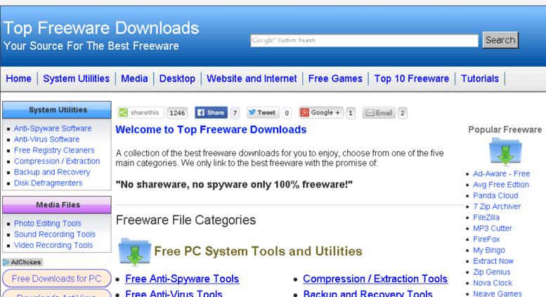Access topfreewaredownloads.com. Top Freeware Downloads - The Best