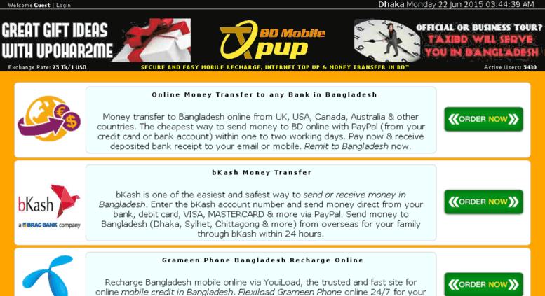 Access topupbdmobile com  Mobile Recharge, Money Transfer