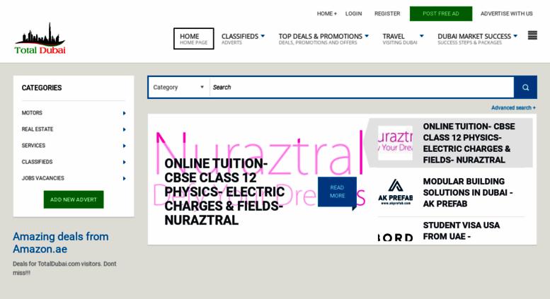 Access totaldubai com  Dubai Classifieds, Jobs in Dubai