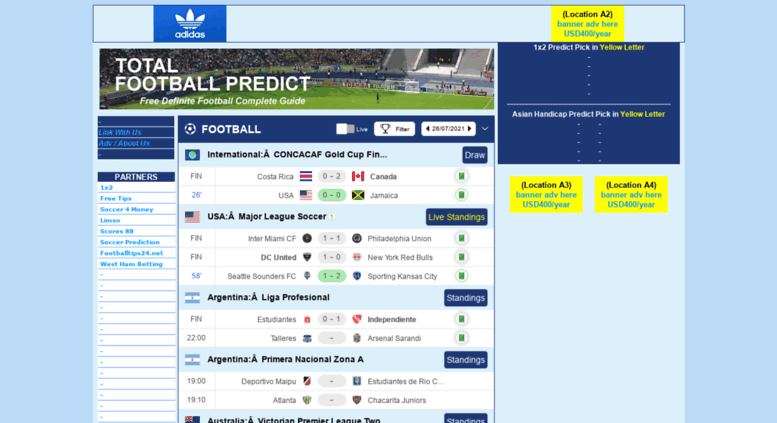 Access totalfootballpredict com  Total Football Predict  Free