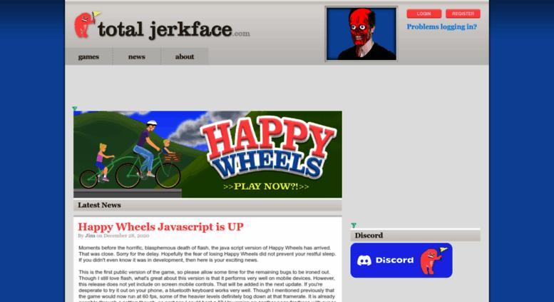happy wheels total jerkface