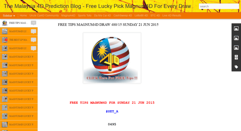 Access tototips blogspot my  The Malaysia 4D Prediction Blog - Free