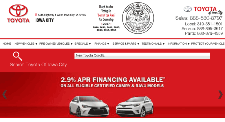 Toyota Iowa City >> Access Toyotaiowacity Com Toyota Dealer Iowa City Ia New