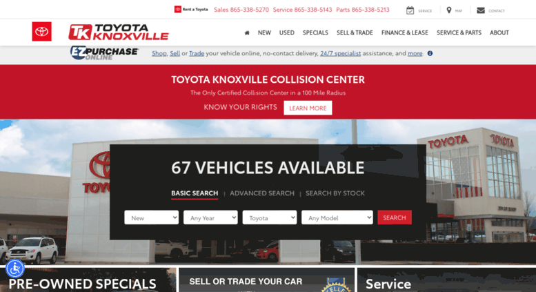 Used Car Dealerships Websites >> Access Toyotaknoxville Com Toyota Knoxville New Used