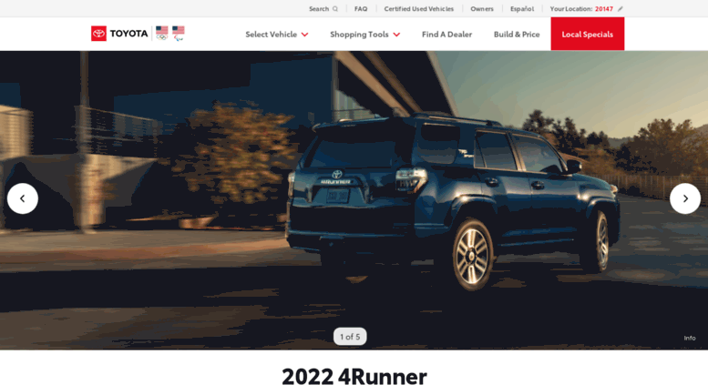 Toyota Official Site >> Access Toyotausa Com New Cars Trucks Suvs Hybrids