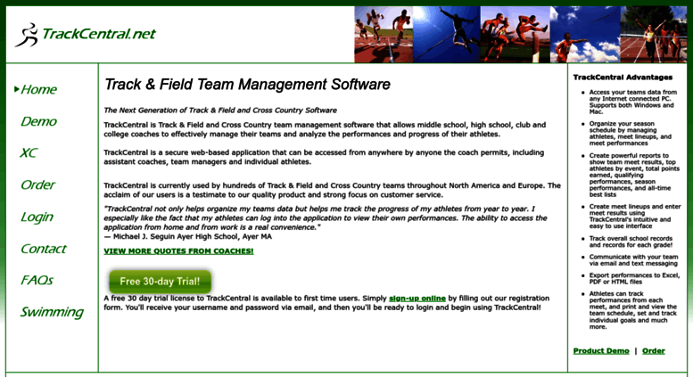 Access trackcentral net  TrackCentral net   Track & Field Management