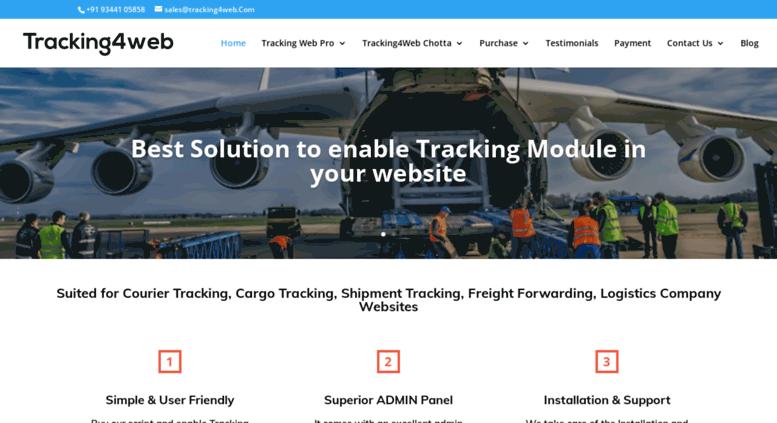 Access tracking4web com  Courier Software Script, Cargo Tracking