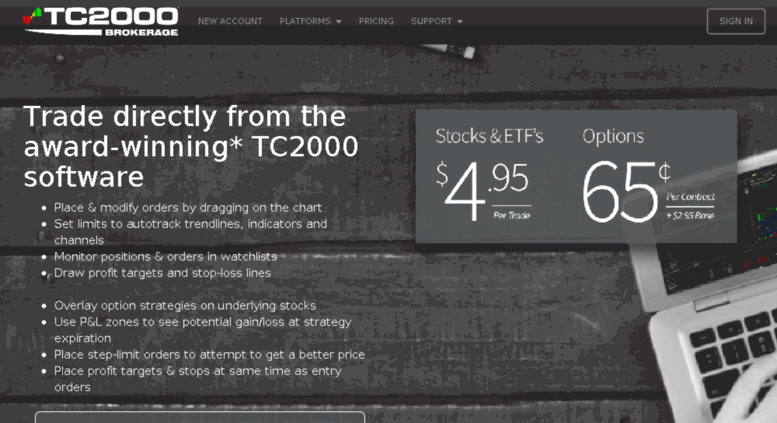 Access tradefire com  TC2000 Brokerage   Trade from the Charts