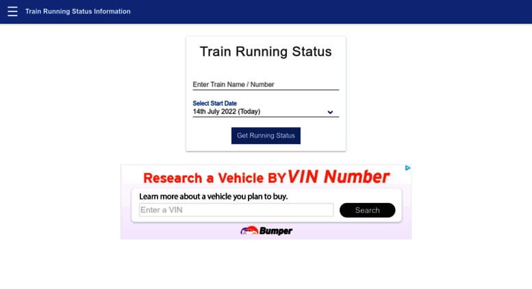 Access trainstatus info  Indian Railways Live Train Running
