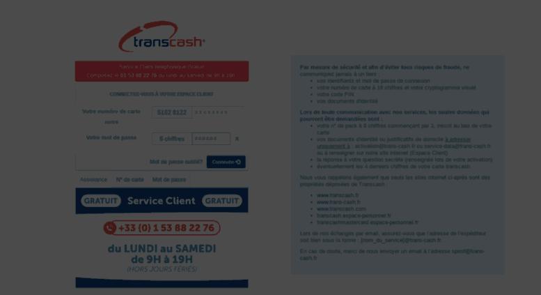 application transcash