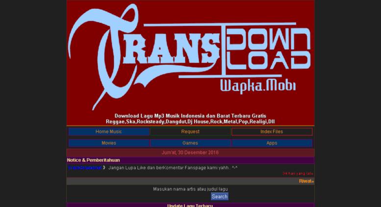 Access transdownload wapka mobi