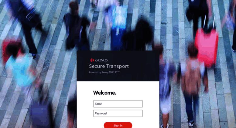 Access transfer kronos com  Kronos SecureTransport Login