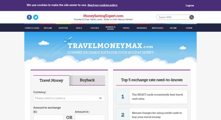 Access Travelmoney Moneysavingexpert Travel Money The Best Foreign Exchange Rates Saving Expert