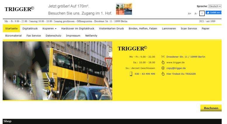 Access Trigger De Home Trigger In Berlin Kopie Druck