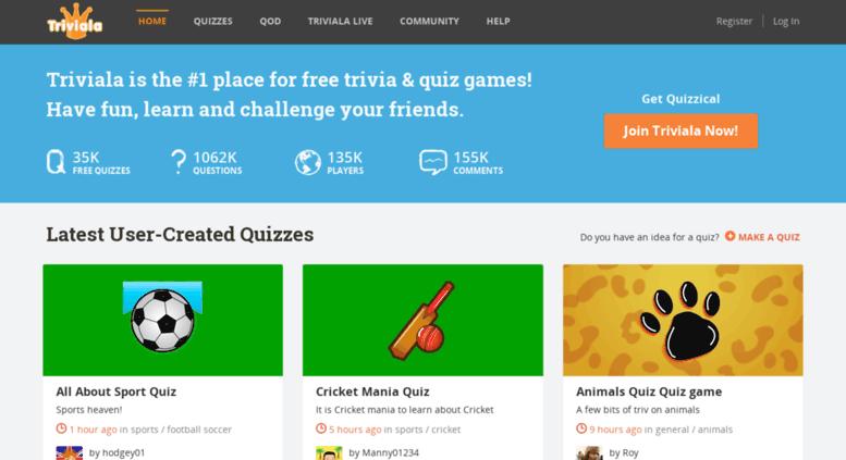 Access triviala com  Trivia Quiz - Free Fun Games Online