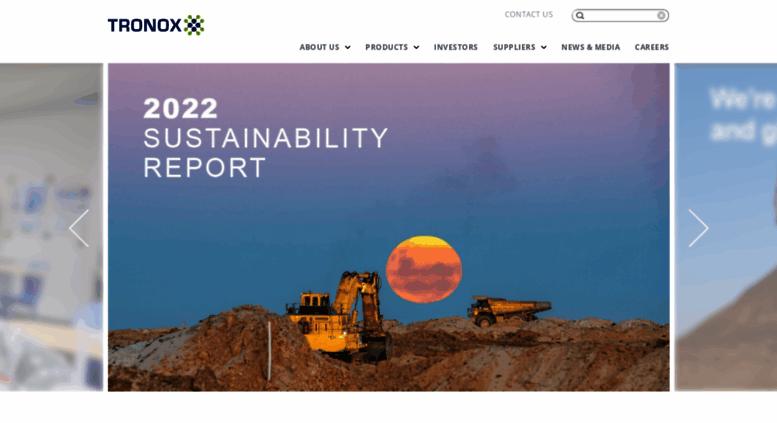 Access tronox com  Tronox – Producer and Marketer of Titanium