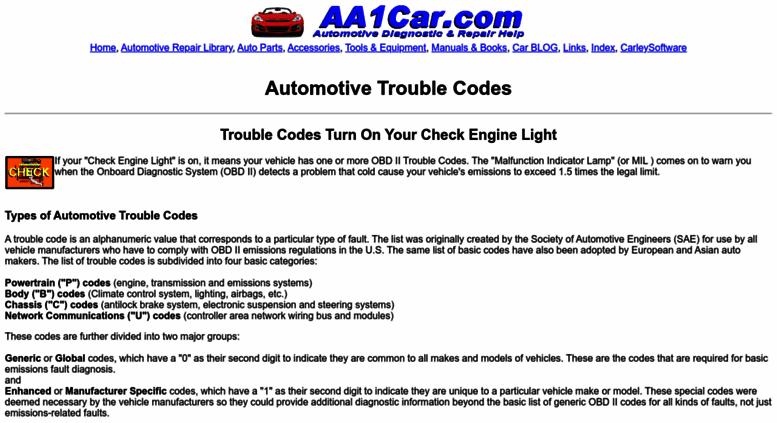 Access trouble-codes com  Trouble-Codes
