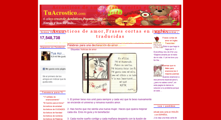 Access Tuacrosticocom Acrosticos De Amorfrases Cortas En Inglés
