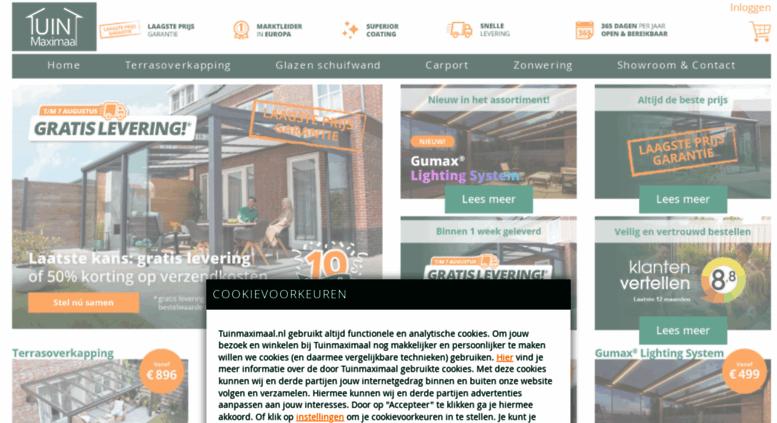 access tuinmaximaal.be. gegarandeerd de goedkoopste