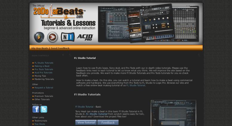 Access tutorials 20dollarbeats com  FL Studio Tutorial