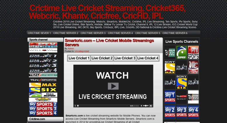 Access Tvcric Info Crictime Live Cricket Streaming