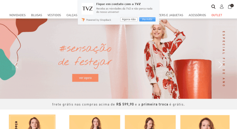 5b4fe5f58 Access tvz.com.br. TVZ - Loja Online Oficial - Roupas feminina ...