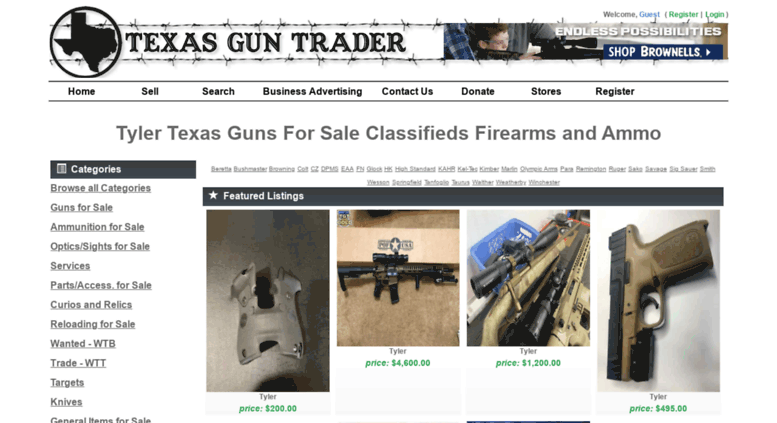 Access Tylertexasguntradercom Tyler Guns For Sale Classifieds