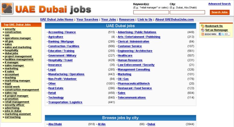Access uaedubaijobs com  UAE Dubai Jobs - search jobs
