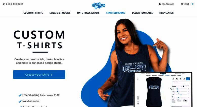 access uberprints com custom t shirts design your own t shirts at