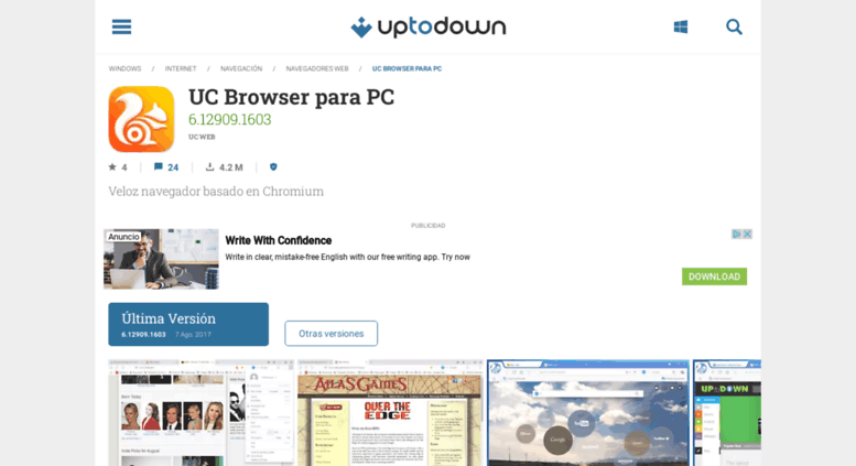 Access uc-browser uptodown com  UC Browser para PC 6 12909