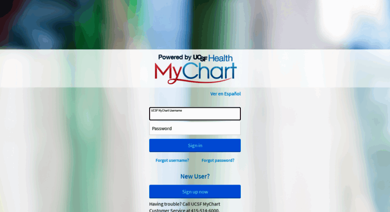 Ucsfmychart Ucsfmedicalcenter Org Screenshot