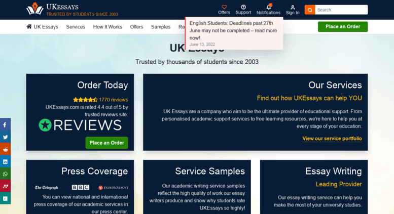 Access Ukessayscom Uk Essays  Ukessays Ukessayscom Screenshot Write Report For Me also Interesting Persuasive Essay Topics For High School Students  Custom Writing Sites